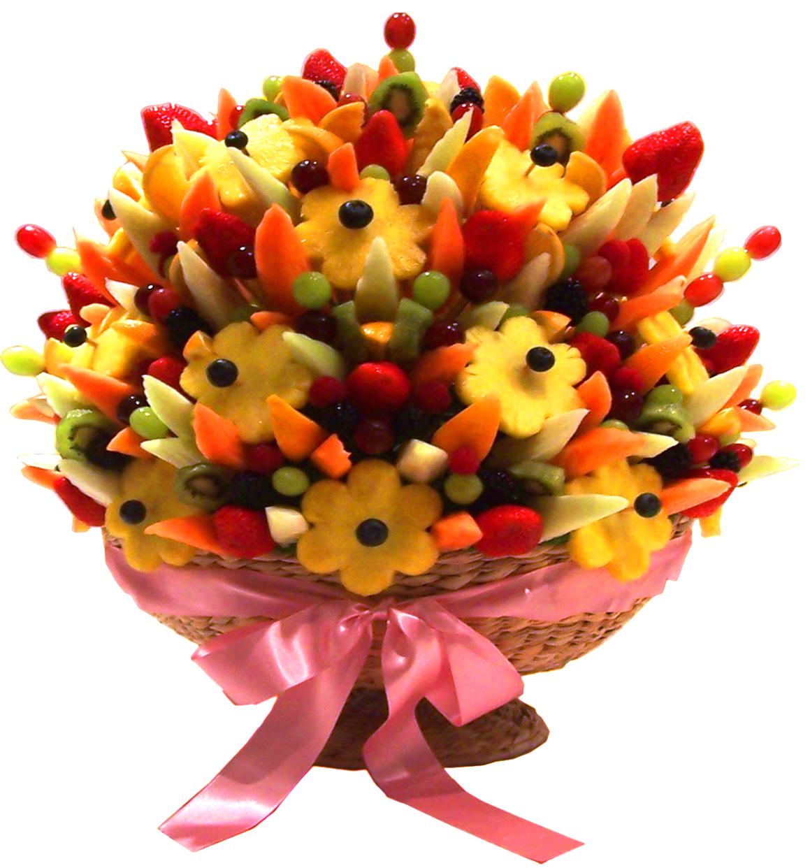 Фото цветы и фрукты букеты