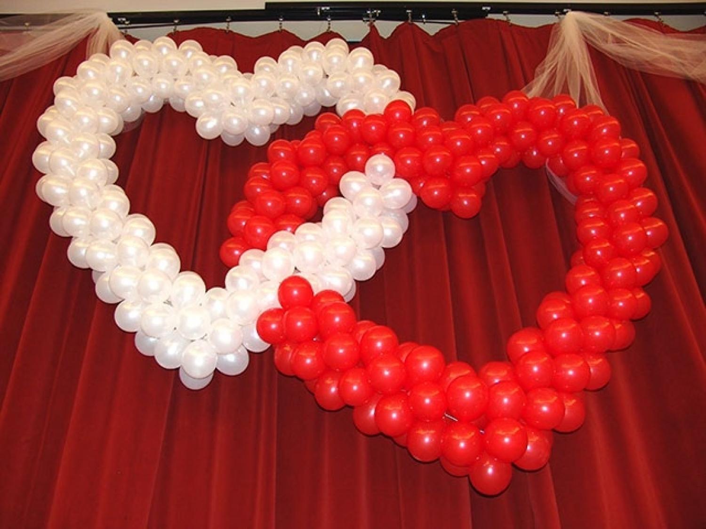 Как сделать из шариков сердце на свадьбу своими руками