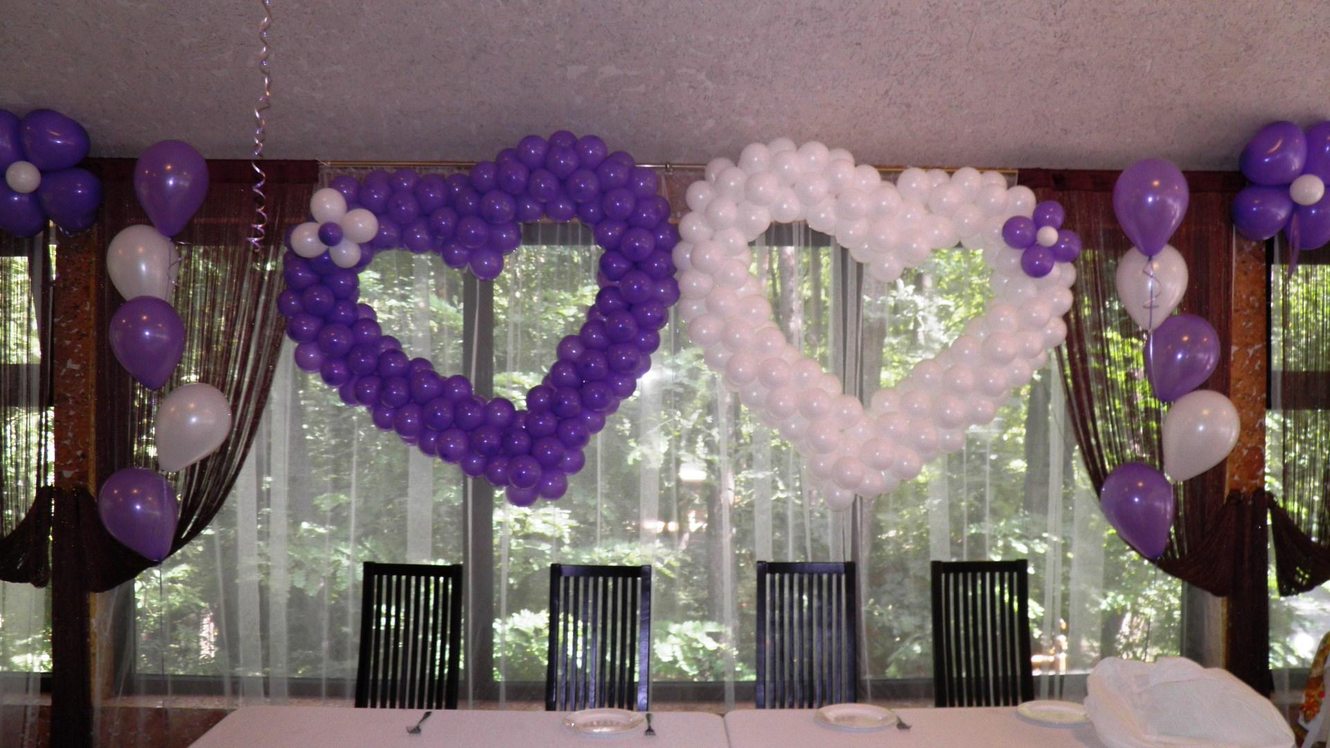 Сердца на свадьбу своими руками из шариков