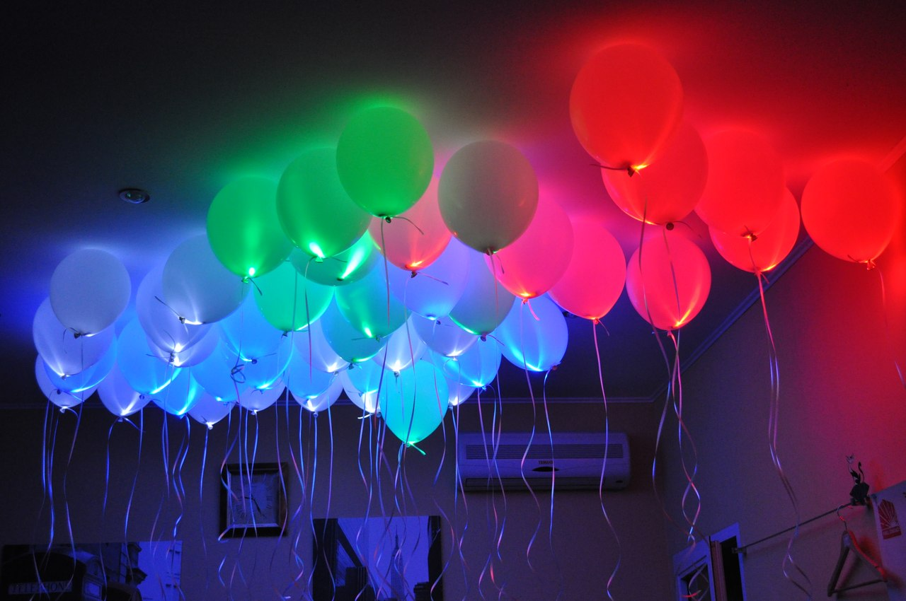Как сделать что бы шарики светились