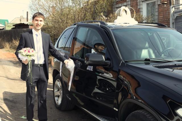 Свадьба, автомобиль BMW X5