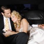 Romantic Couple Riding in Limo